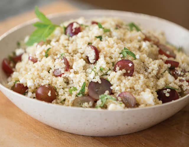 Grape, Feta Mint Quinoa Salad