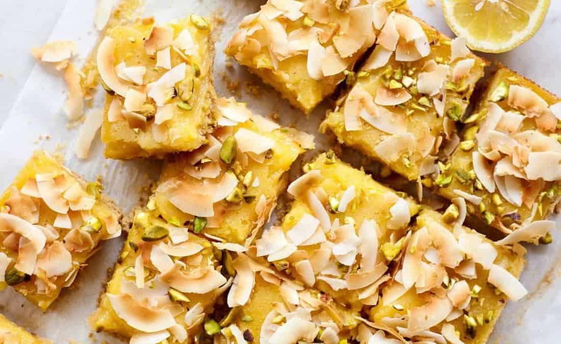 Pistachio Coconut Lemon Squares