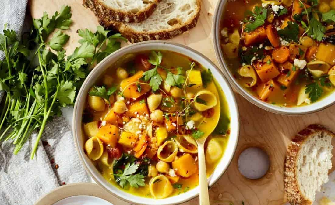 Orange Goddess Vegetable Minestrone