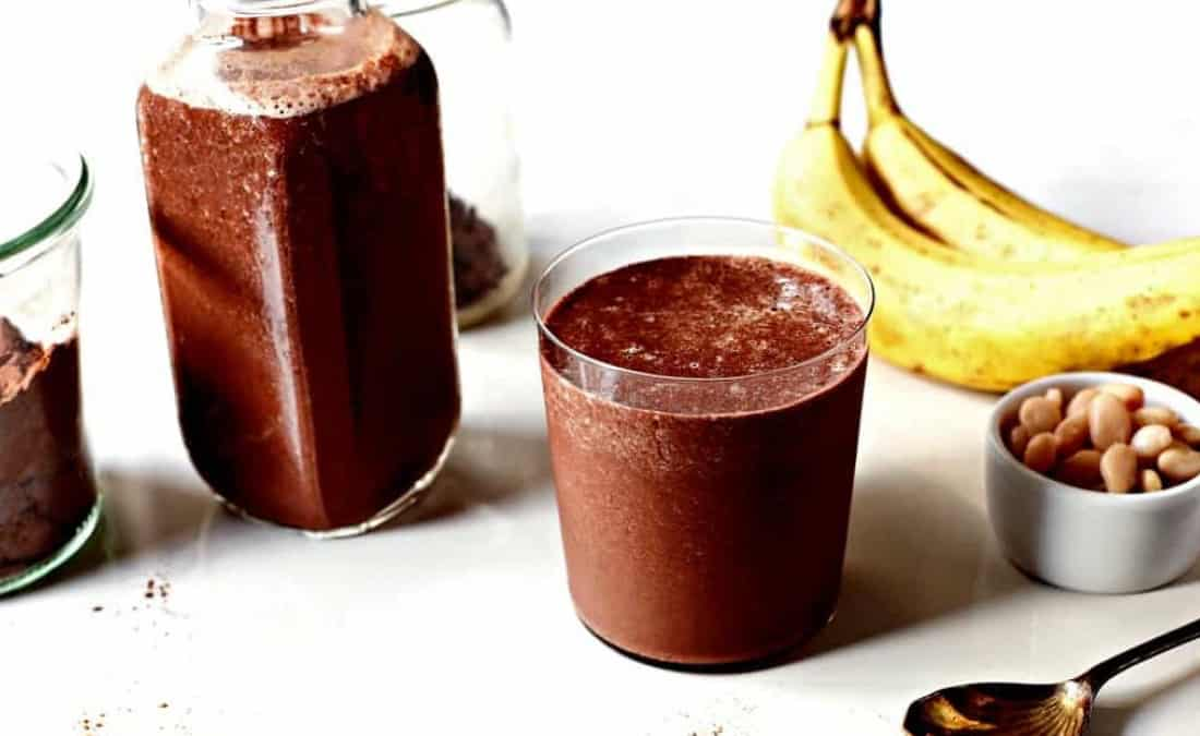 Creamy Chocolate, Cannellini Bean, and Cinnamon Smoothie
