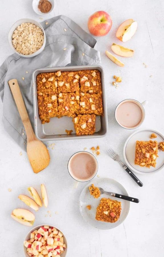 fall recipe apple pumpkin pie oatmeal
