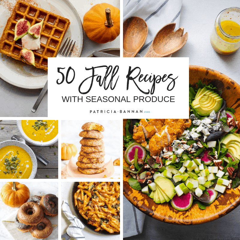 grid of 50 fall recipes