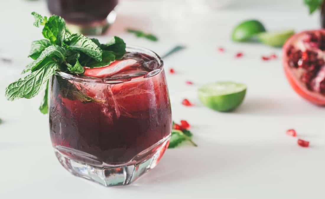 Pomegranate Ginger Mojito Mocktail