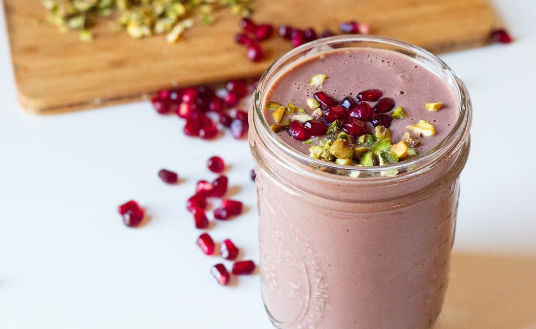 Pomegranate Cacao Breakfast Milkshake