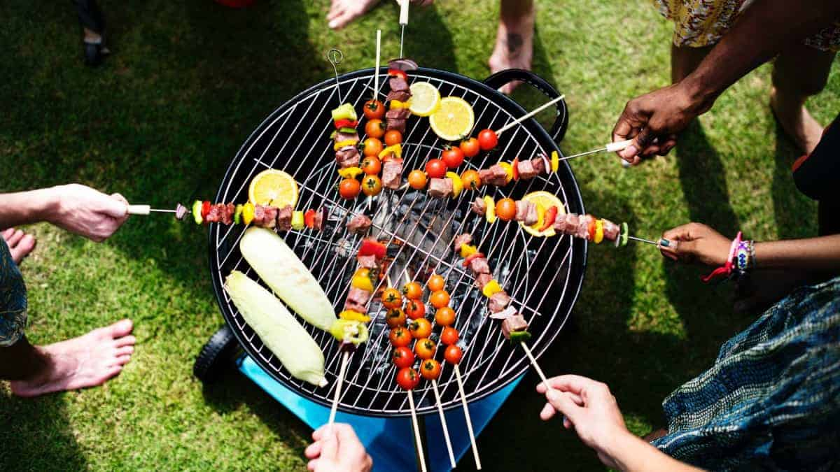vegetable skewers and other unique grilled bbq foods