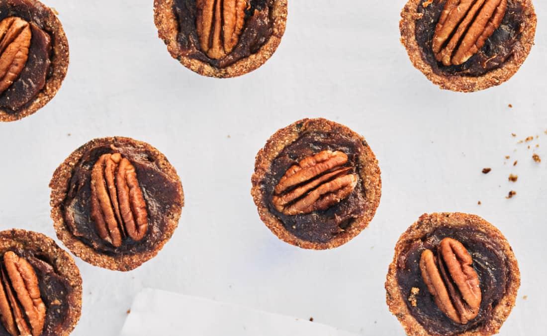 Mini Pecan Pies (plant-based)