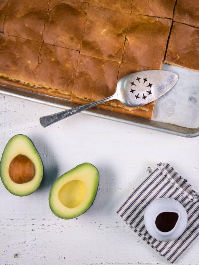 sheet pan avocado pancakes