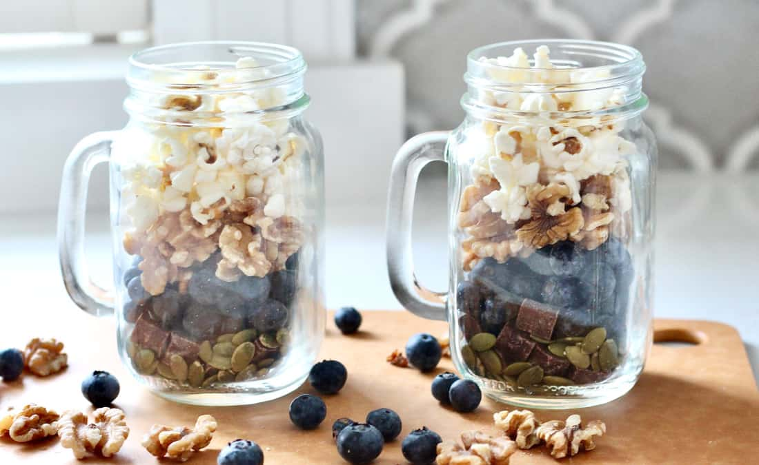Blueberry Popcorn Trail Mix