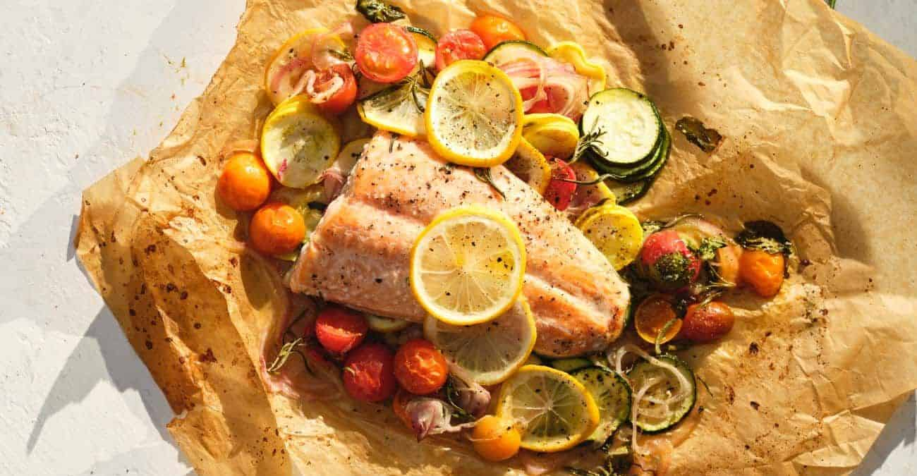 Fish en Papillote with Vegetables, Fresh Herbs, and Lemon