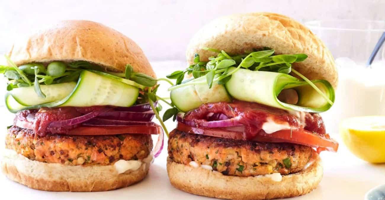 Super Grains Salmon Burger