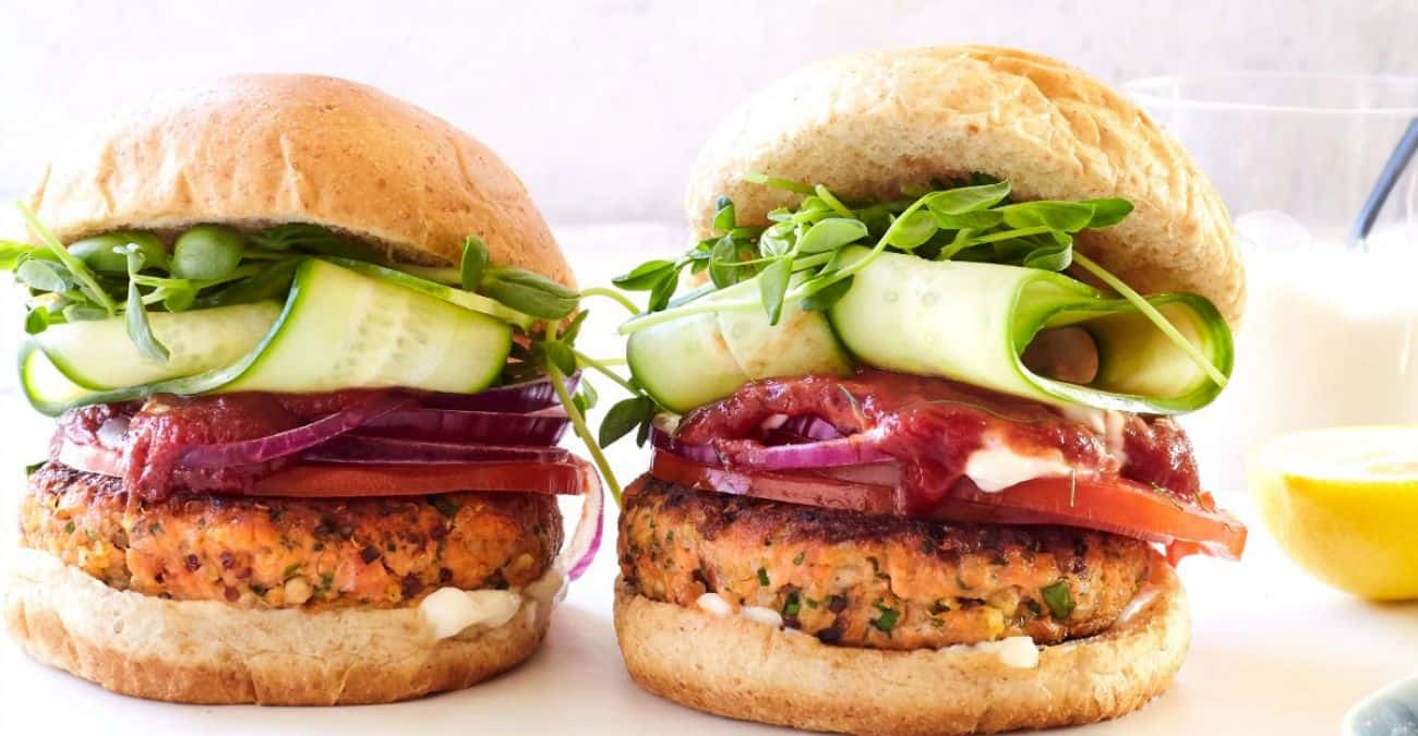 Super Grains Salmon Burger