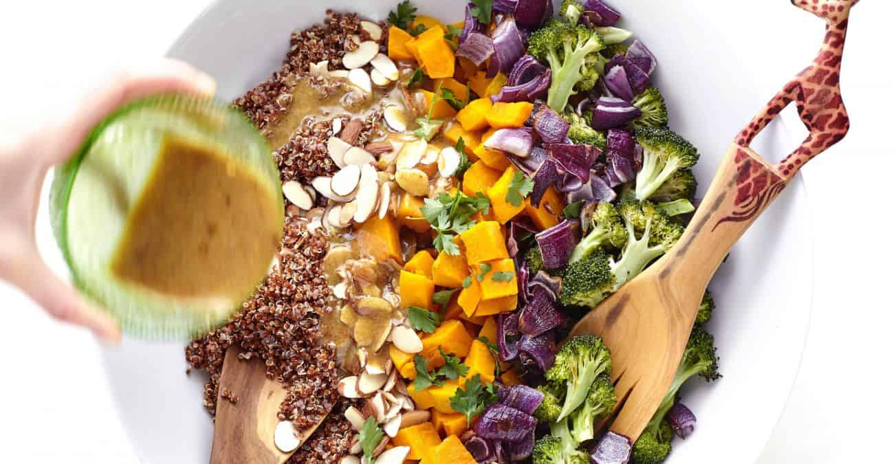 Red Kuri Squash and Quinoa Salad with Maple Dijon Dressing