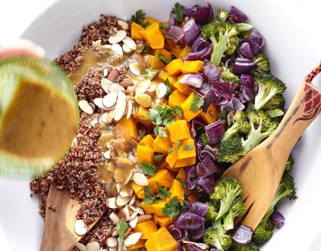 Red Kuri Squash and Quinoa Salad with Maple Dijon Dressing