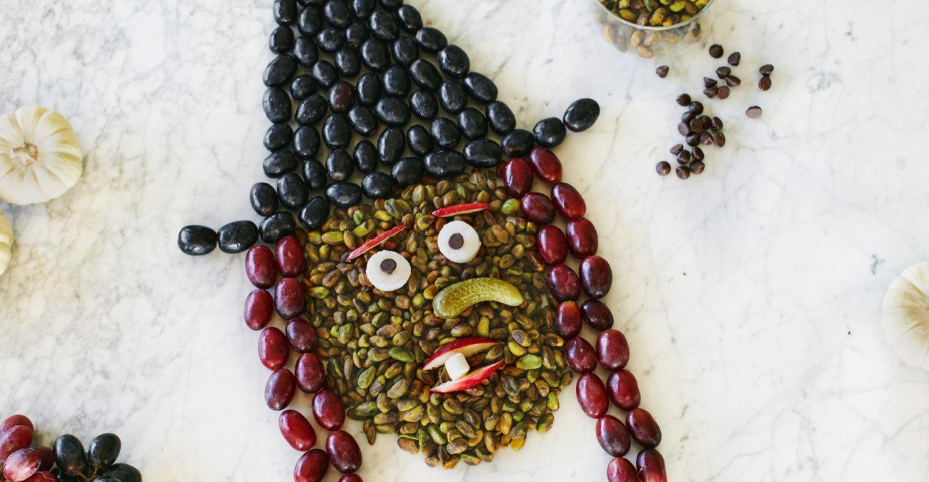 Halloween Fruit & Nut Witch Platter