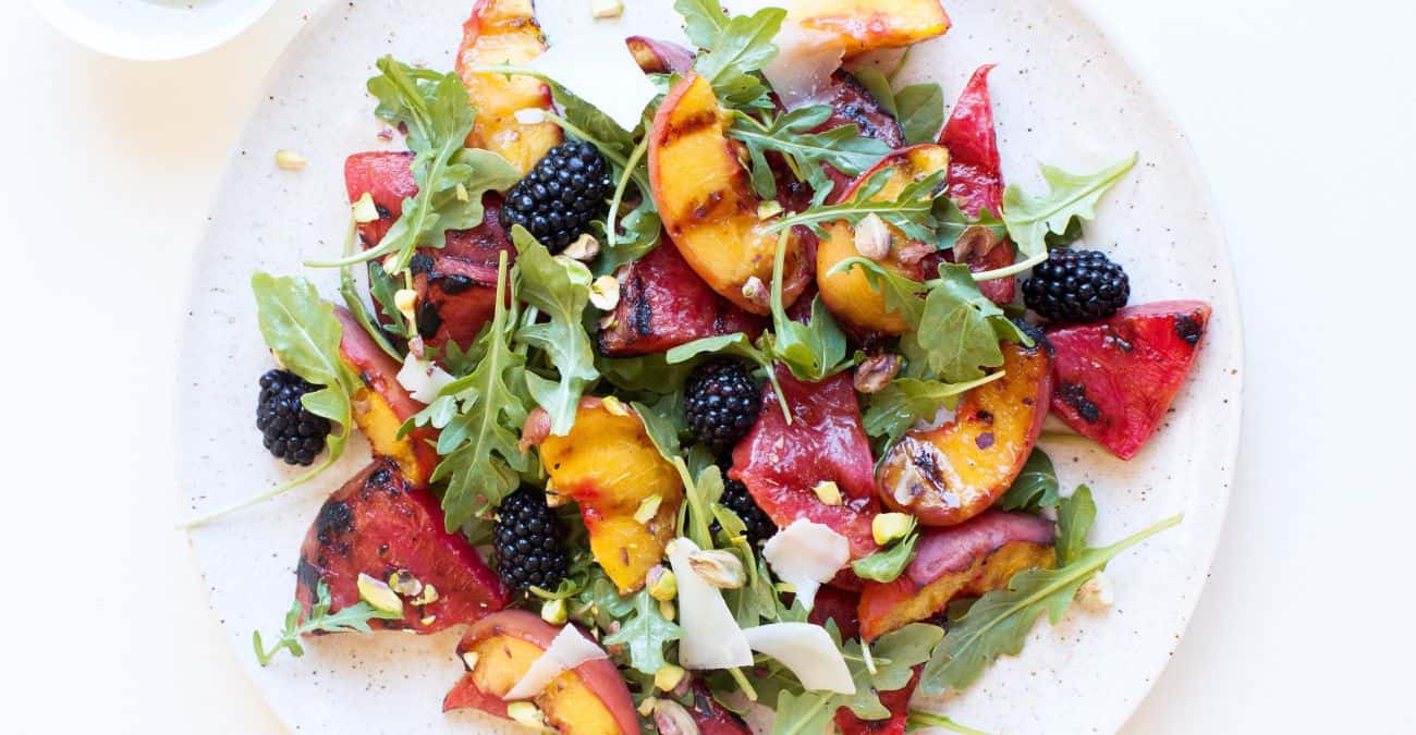Grilled Peach and Watermelon Salad