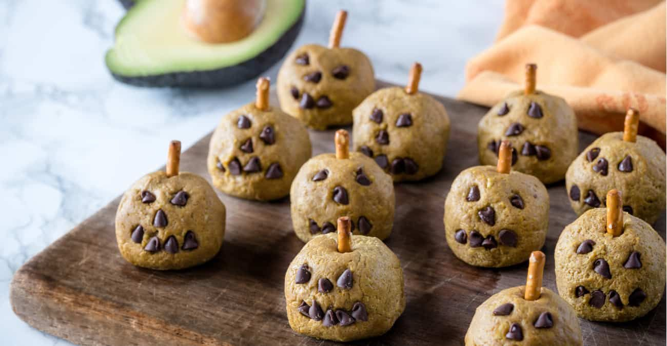 Avocado Halloween Pumpkin Balls