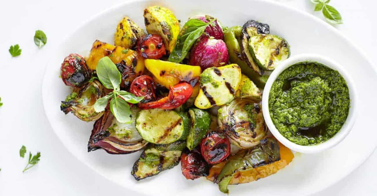 Salsa Verde Grilled Vegetables