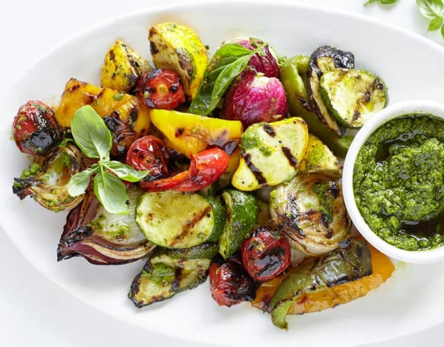 Salsa Verde Grilled Vegetables