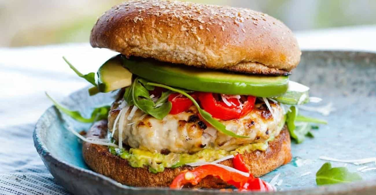 Red Chile and Cheese Stuffed Turkey Burgers