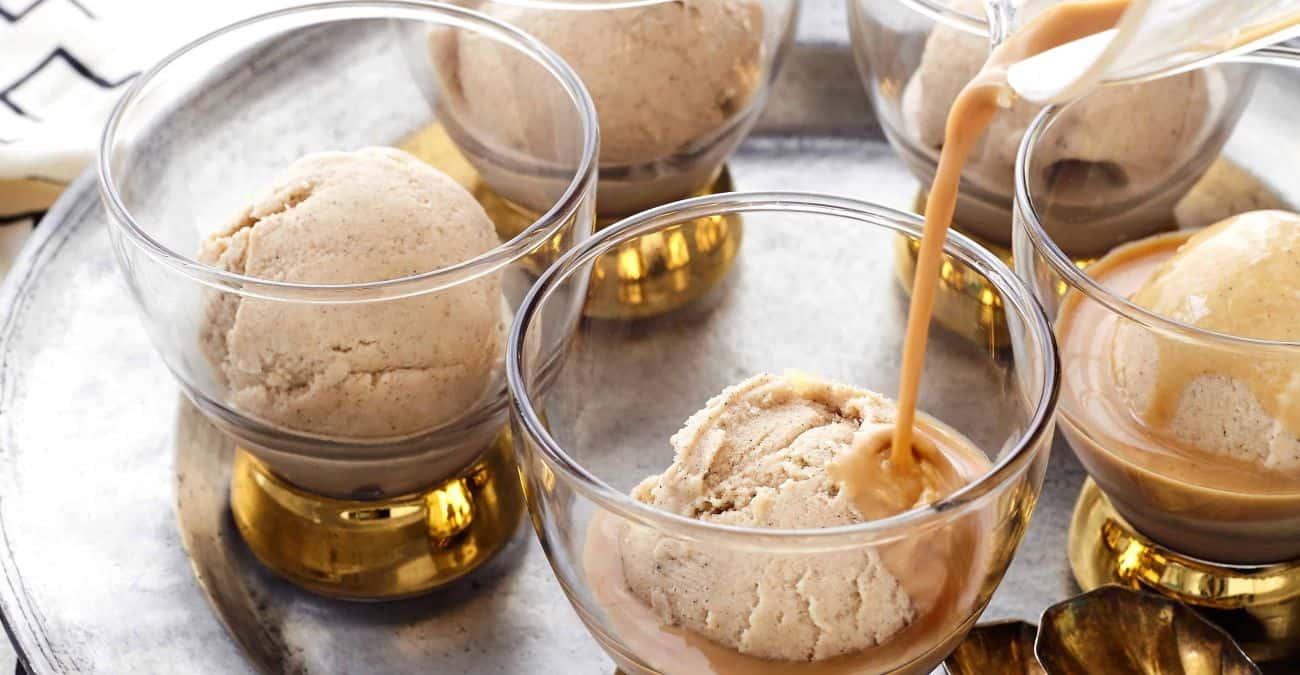Vanilla Chai Frozen Yogurt Affogatos