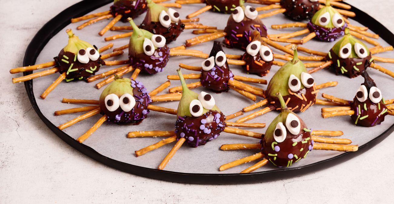 Spooky Pretzel Spider Snacks with California Figs
