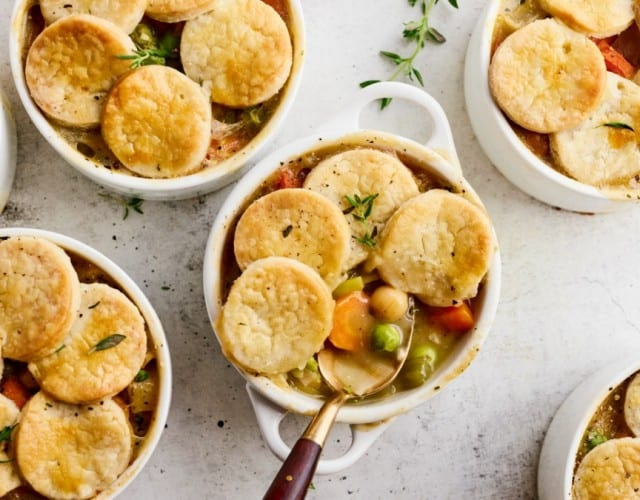 Spring Vegetable Mini Pot Pies