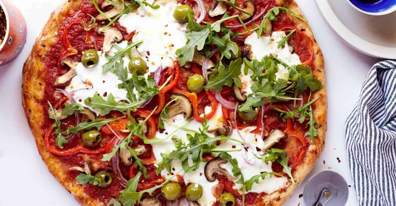 Killer Homemade Veggie Pizza