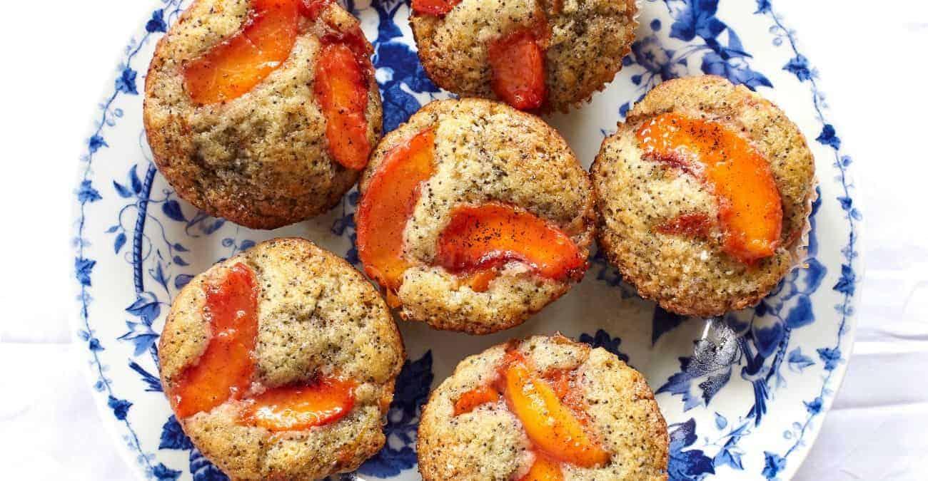 Saucy Peach Poppy Seed Muffins