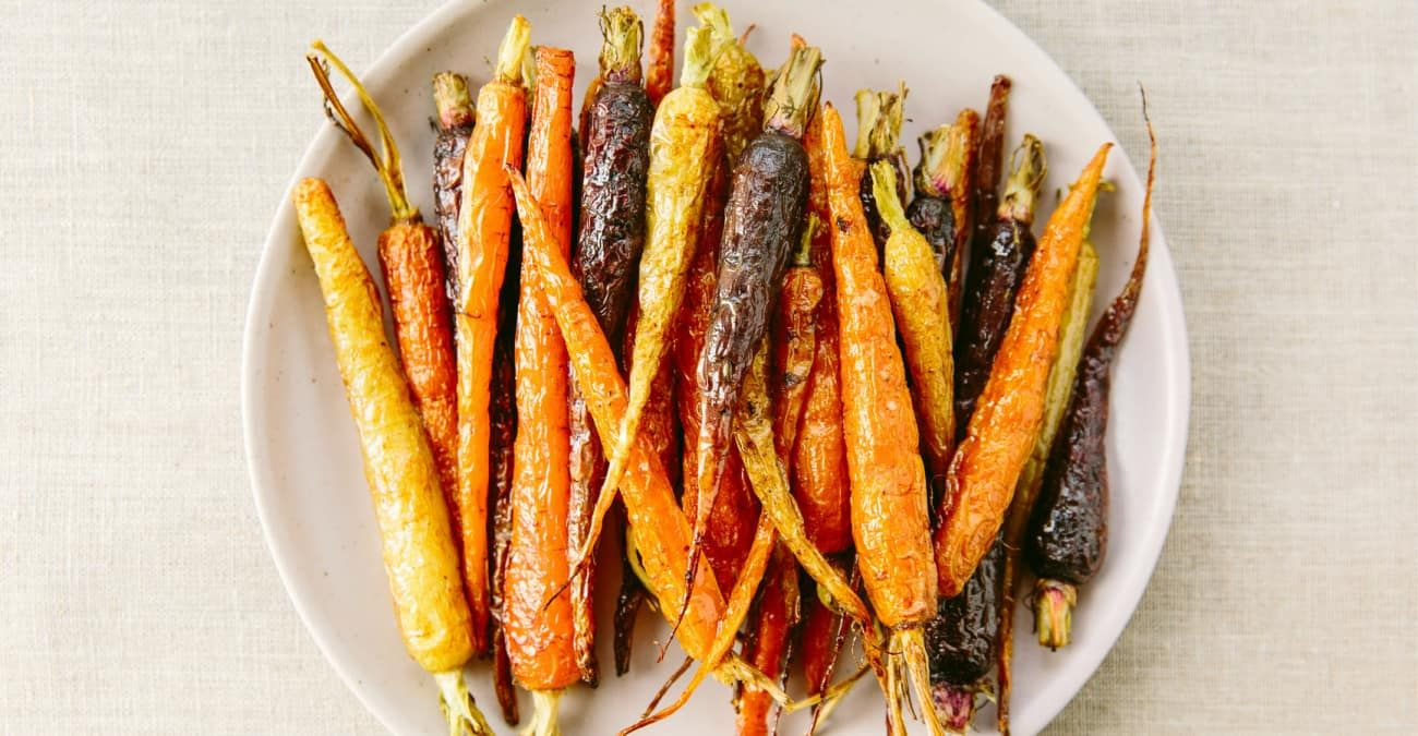 Roasted Carrots with Bone Broth and Maple