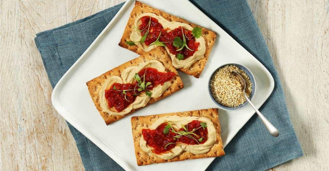 Gluten-Free Hummus and Harissa Crunch