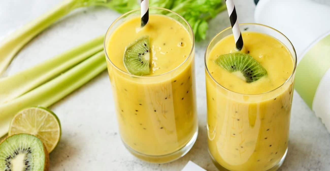 Mango Kiwi Kefir Lime Smoothie