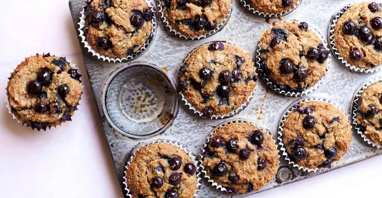 Blueberry Power Muffins (gluten-free)